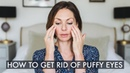 Massage to help get rid of puffy, tired eyes