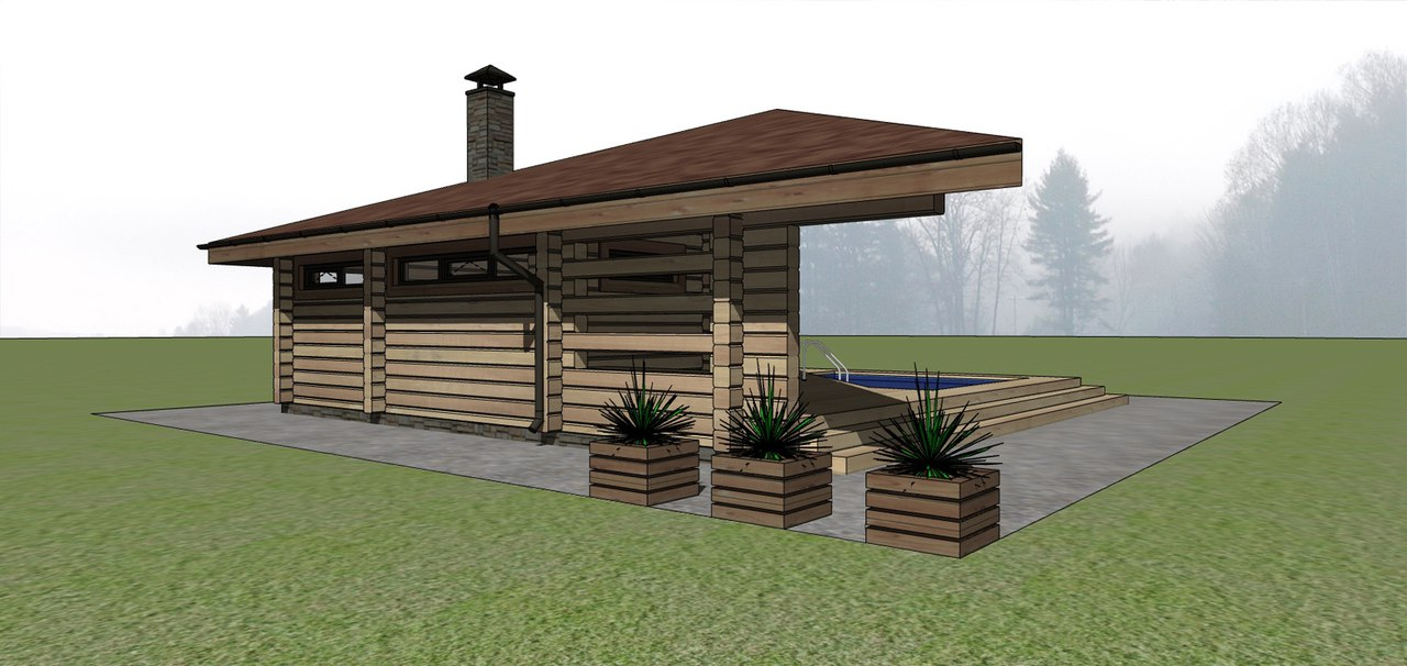 Проект: Баня «Ласточка»