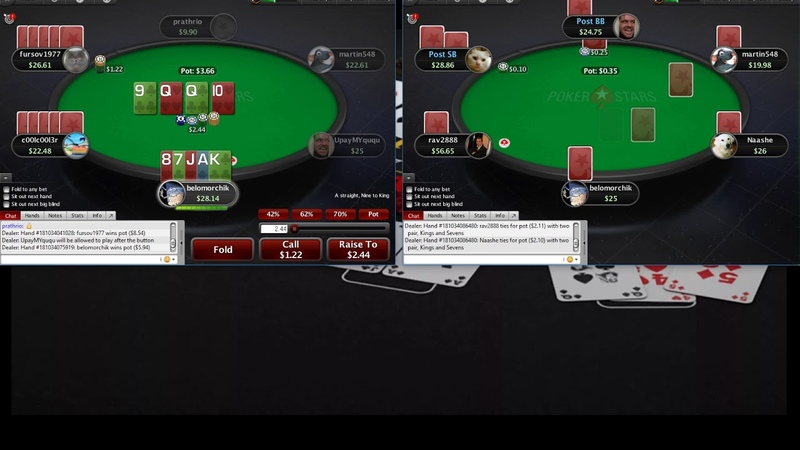 Omaha 5card PLO25 Pokerstars Омаха 5карт ПЛО25 часть 6
