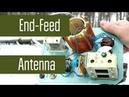 Самодельная EndFeed антенна на 40м. Диполь с питанием с краю, а не в центре. Радиосвязь на КВ.
