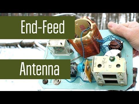 Самодельная EndFeed антенна на 40м Диполь с питанием с краю а не в центре Радиосвязь на КВ