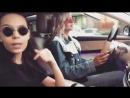 Леся Кафельникова с подругой Мариной на Мерсе 21 05 18