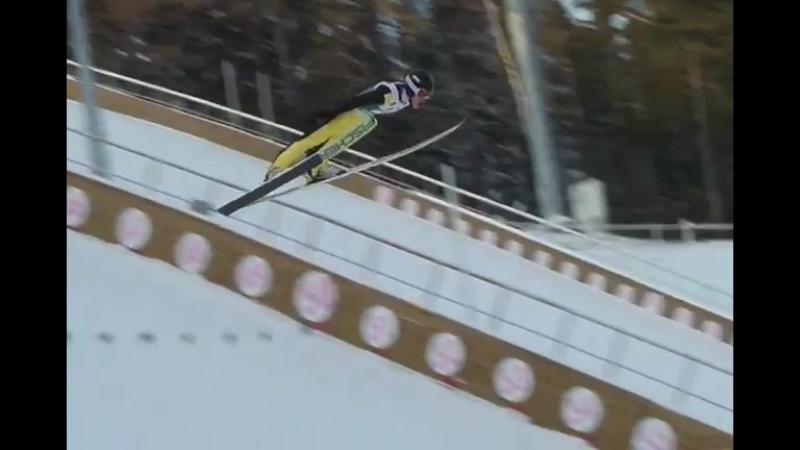 Прыжок Александра Логинова в командных соревнованиях