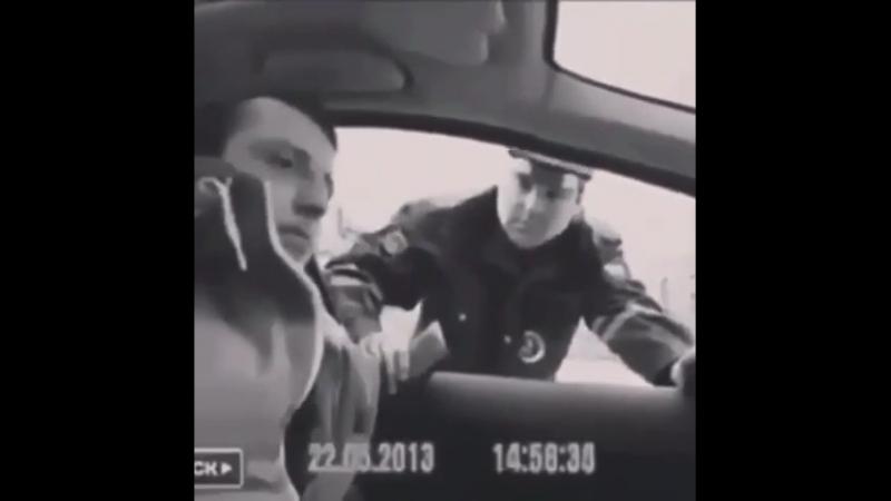 Пьяная жена и ее муж, пасажирка орет на гаишника. Мужик в шоке