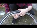 Светодиодная нить роса установка на велосипед