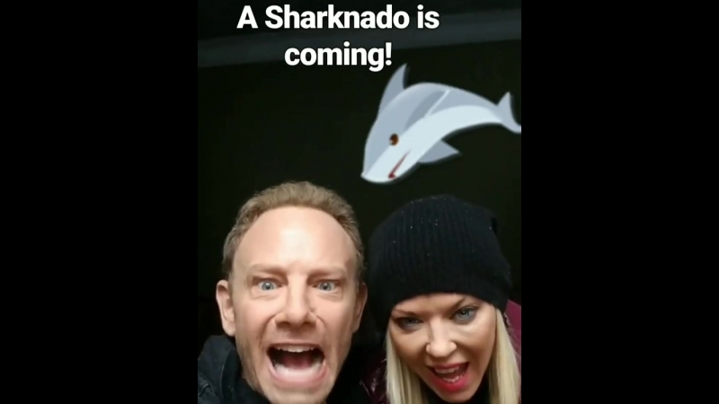 With my co-star @ianziering in Romania ... watch out, here we come! 🦈