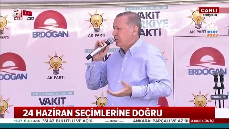 Cumhurbaşkanı Erdoğanın Ak Parti Eskişehir Mitingi Konuşması 12 Haziran 2018
