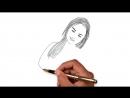 Рисованный видео портрет по фотографии