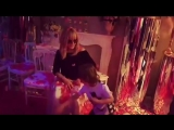 Алла Пугачёва, Лиза и Гарри Галкины на дне рождении Клавдии Земцовой (30.03.2018)