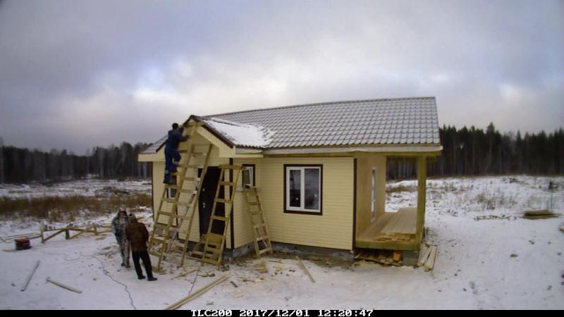 Каркасный дом 9х6 м. с террасой 2х6 м. Часть 4 Отделка дома виниловым сайдингом
