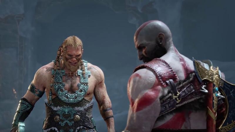 Битвы Богов Кратос против Бальдра, Моди и Магни. God of War 4
