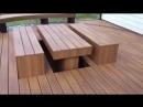 выдвигающиеся стол и скамейки