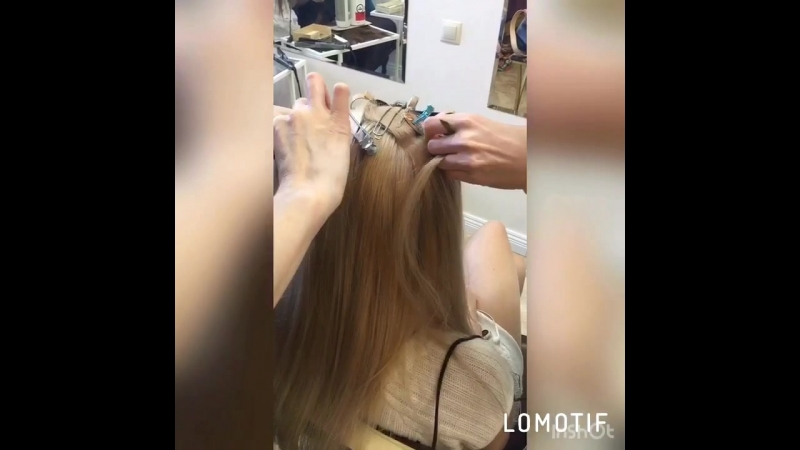 Окрашивание коррекция наращенных волос Краснодар