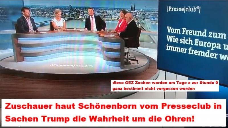Zuschauer haut Schönenborn vom Presseclub in Sachen Trump die Wahrheit um die Ohren! - YouTube
