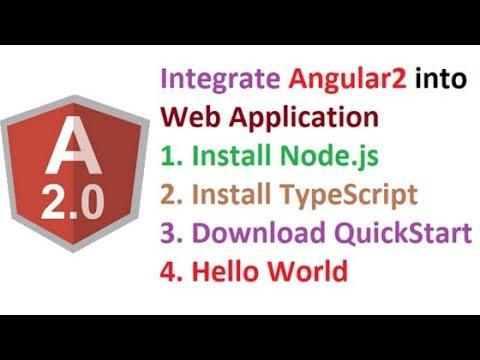 Setup Angular 2 into ASP.Net Web Application | Angular 2 | Part 1