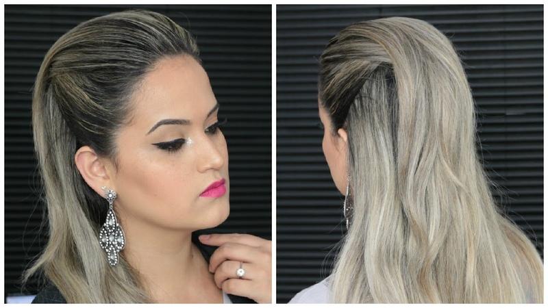 Penteado Fácil Moicano Feminino simples com topete