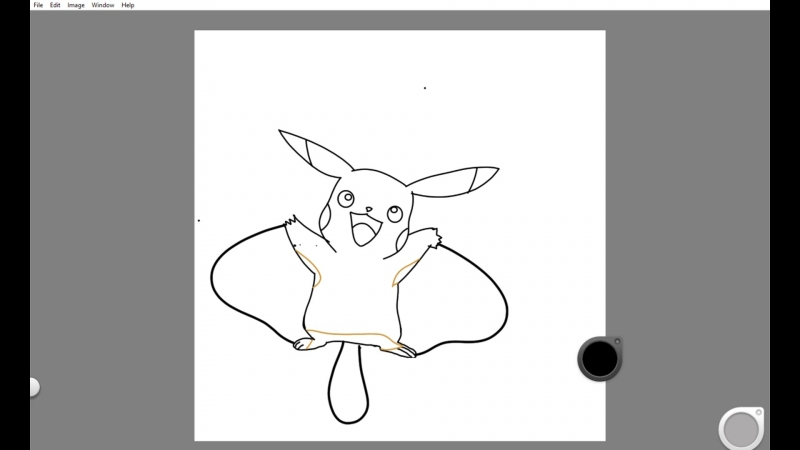 Pokemon Drawing-time evolving Pikachu to flying type