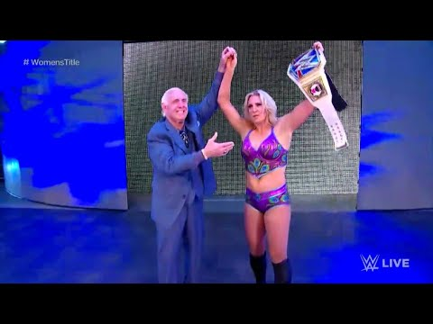 Charlotte Flair Becomes NEW SmackDown Women's Champion FULL CELEBRATION Nov 14 2017 HD