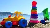 Aprendemos los colores. Juegos en la playa. Coches para ni