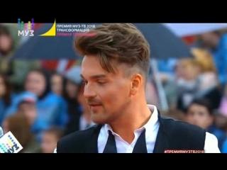 Александр Панайотов на красной дорожке премии МузТВ-2018