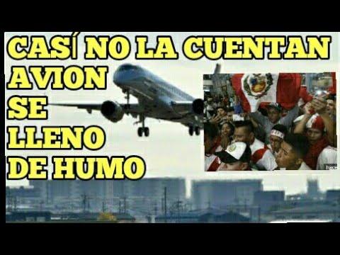Hinchas.Peruanos sufren en pleno vuelo al perder turbina de avion y aterrizar de emergencia en Moscú