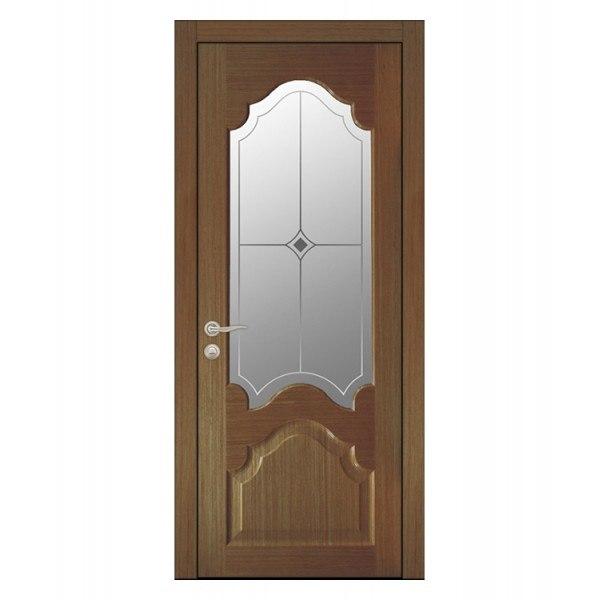 Межкомнатная дверь КАРДИНАЛ (Шпон, орех)