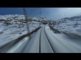 Съемка с норвежского скоростного поезда (музыка Pendulum -