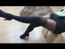 Стройные Ножки В Чёрных Чулках Schoolgirl HD