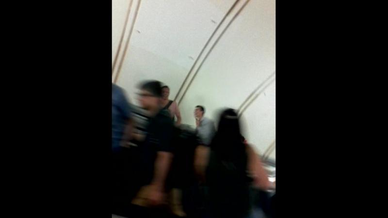 Еще одно случайное видео в метро во время ЧМ по футболу