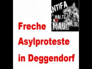 Asylanten Protest in Deggenheim