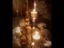 Декор гостевых столов для бело/золой свадьбы