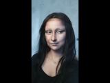 Imitation makeup Mona Lisa