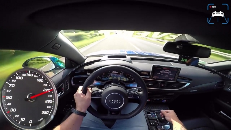 Audi RS7 750 HP AUTOBAHN POV 325 km-h ACCELERATION TOP SPEED by AutoTopNL