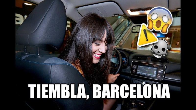 ⚠️ VLOG   Un coche eléctrico que conduce solo por Barcelona!!   Gina Tost   ad