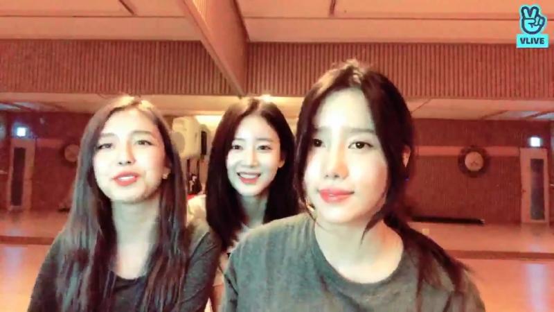 [V LIVE] 베리굿(Berrygood)- 레슨 전 10분 방송 --)