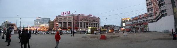 Панорама площади революции и двух главных старых ТРК  14 ноября 2017