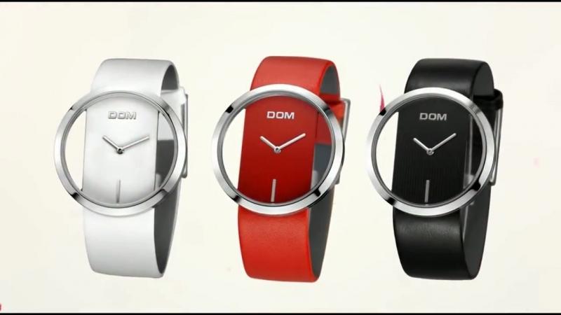 Роскошные прозрачные Женские часы DOM купить на AliExpress