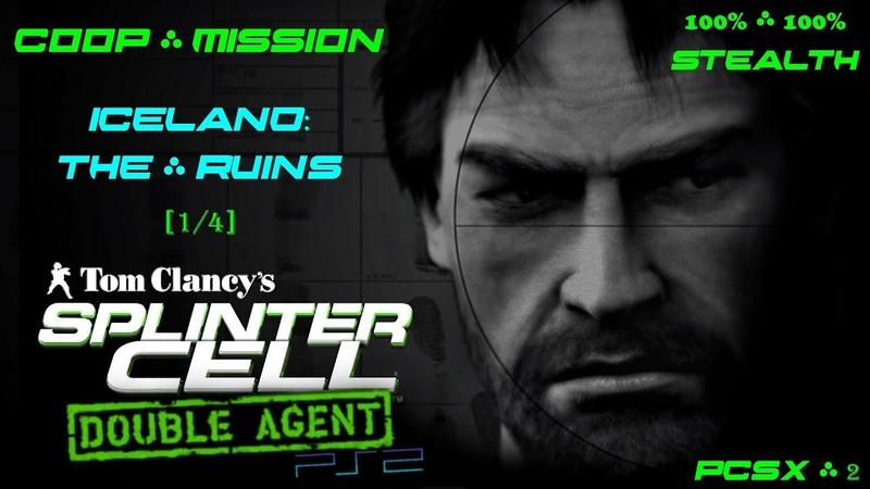 Splinter Cell Double Agent Coop [PS2PCSX2HD] Прохождение – Миссия 1 Исландия – Руины (14)