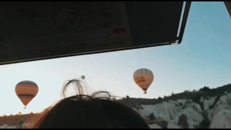 рассвет на воздушном шаре