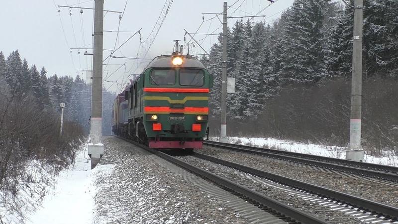 Тепловоз 2М62У-0084, электропоезд ЭД4М-0242