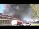 Во Владикавказе загорелся гипсокартонный цех