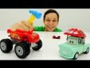 Игры для детей Фёдор прокачивает Тачки Молния Маквин - Монстр Трак! Видео для мальчиков