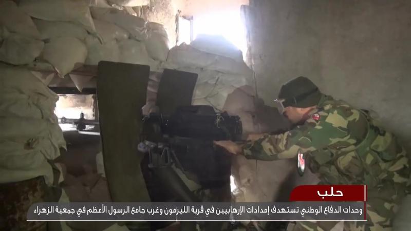 Des chars de larmée syrienne bombardent des lignes dapprovisionnement des mercenaires dans louest dAlep