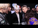 [RUS SUB][21.11.17] BTS Interview for Hollywire TV @ The American Music Awards