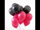 Черно-красный фонтан из гелиевых шаров – необычный подарок. Шары Гродно Happy