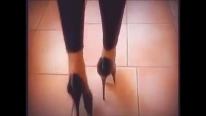 7 Inch High Heels black Leggings
