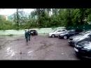 Деревья упали на авто после урагана в Перми