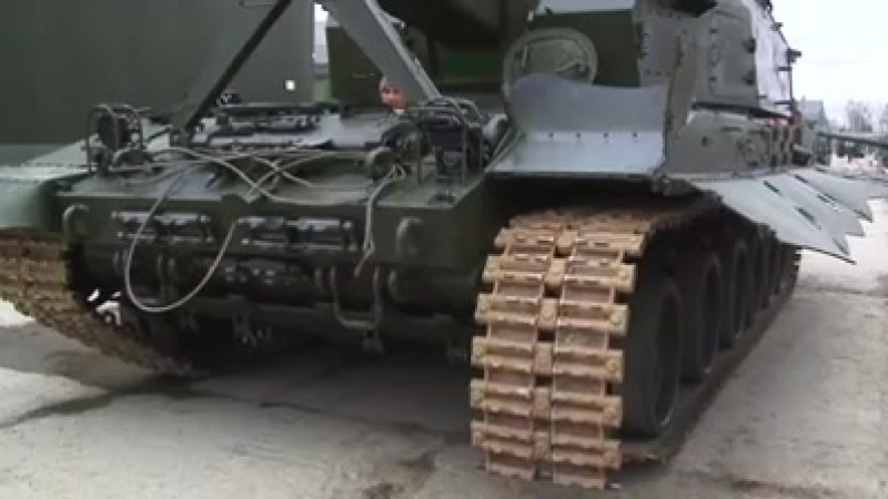 'Переобувание' артиллерийского комплекса 'Коалиция-СВ'