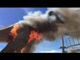 В штате Колорадо, одна из 16 статуй динозавров загорелась