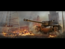 Нагиб на американской ПТ САУ Т110Е4 Калибр орудия 155 мм